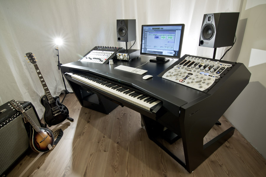 tilted studio audio desks with custom av furniture oak bespoke consoles recording desk mixing racks editing
