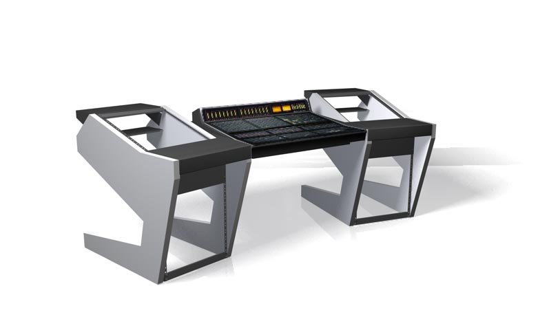 UNTERLASS DUODESK 60 console SSL matrix black zebrano